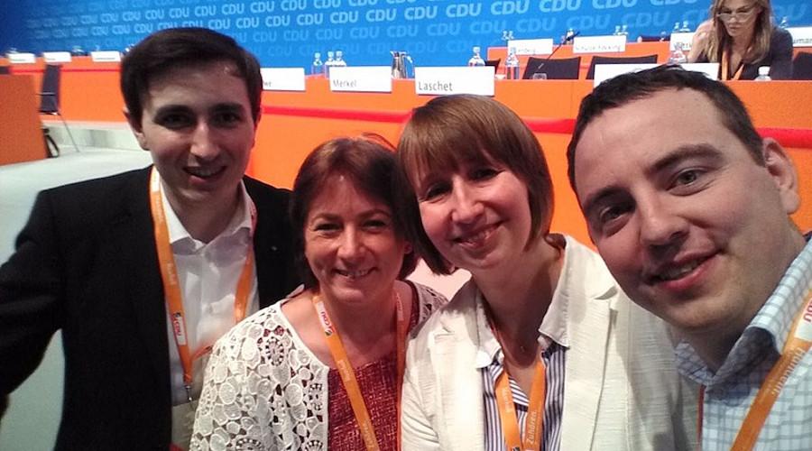 Mitglieder der JU Minden-Lübbecke mit Landtagskandidtin Bianca Winkelmann