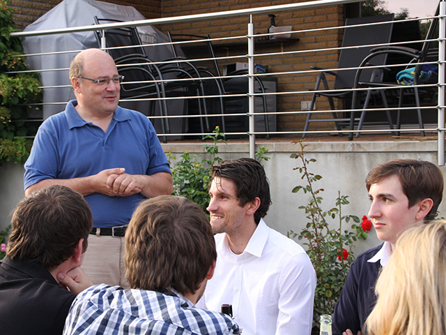 Steffen Kampeter MdB im Kreis des JU-Teams