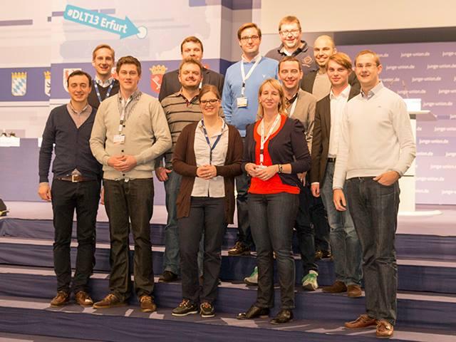 Die Delegation aus Ostwestfalen-Lippe auf dem Deutschlandtag (aus dem Mühlenkreis dabei: Marlene Küster und Christoph Hartke)