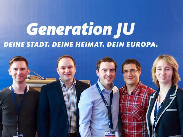 Delegation der JU Mi-Lk mit Tim Ostermann MdB (2.v.l.)
